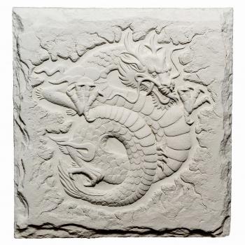 Барельеф Восточный дракон-3